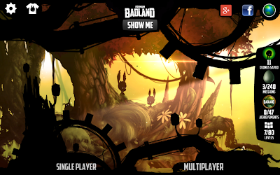 Badland game: Launch screen