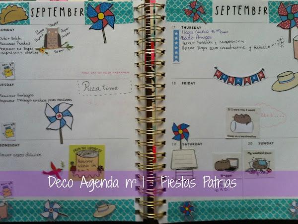 Deco Agenda nº1 : Fiestas Patrias