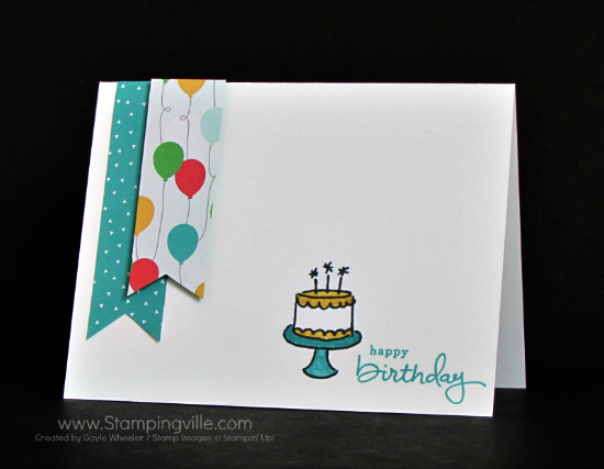 Clean and simple birthday card with Stampin' Up! Endless Birthday Wishes stamp set.
