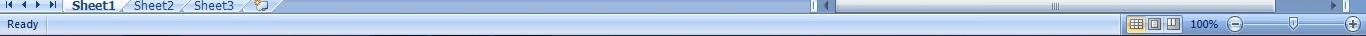 Tutorial Excel 2007 Bagian 1 status bar