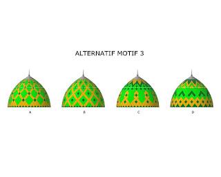 kubah masjid, space frame, enamel, atap