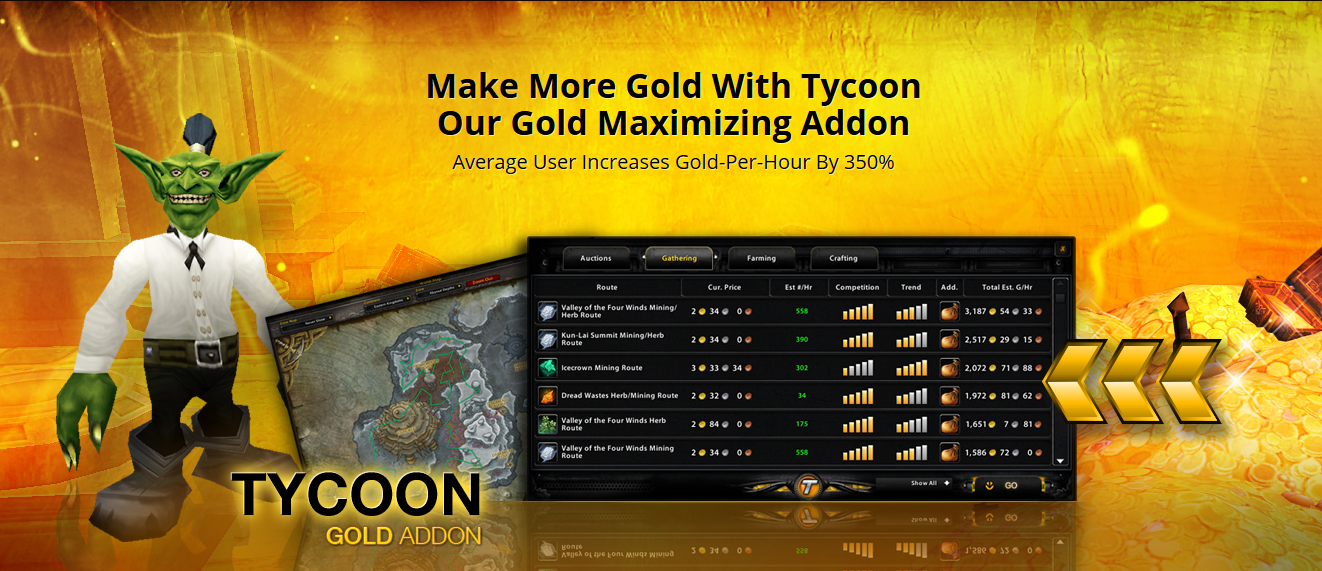 world of warcraft tycoon gold addon