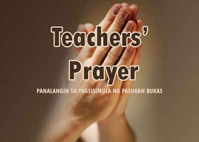 Teachers' Prayer Opening of Classes
