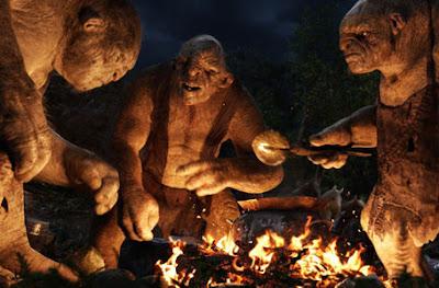 Trolls cozinhando - filme O Hobbit