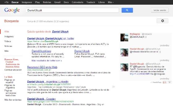 Como añadir Twitter a los resultados de búsquedas de Google