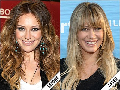 hilary duff before and after makeover 11 amazing new celebrity makeovers 2011