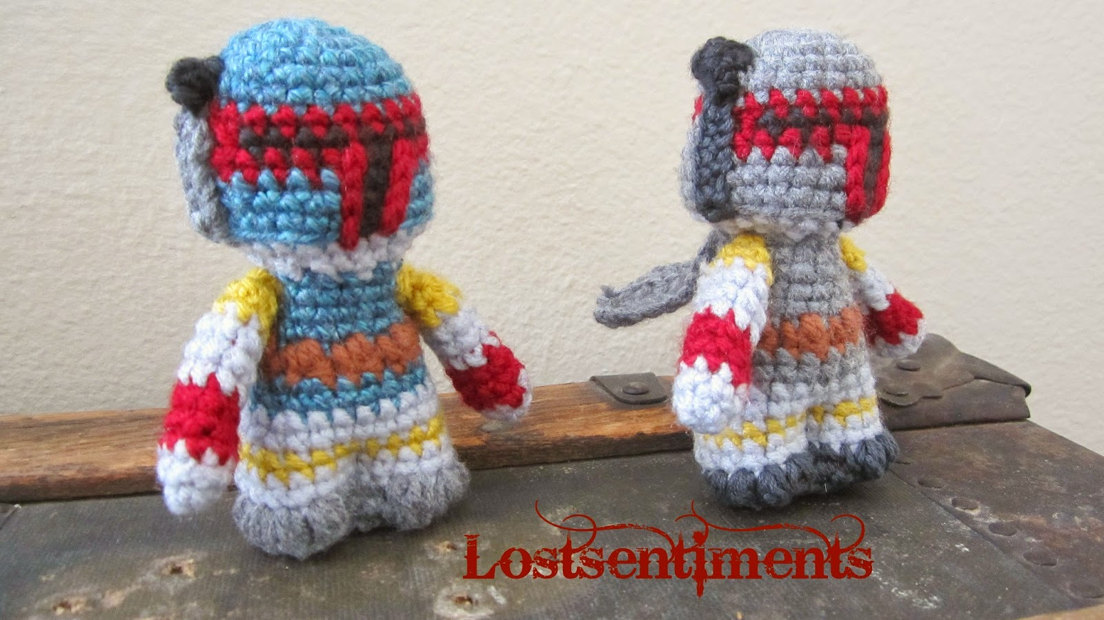 Amigurumi Free Pattern Dinosaur : lostsentiments: Blueba & Boba Fett - Star Wars Amigurumi