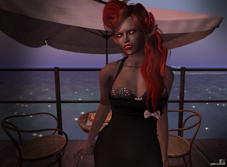 Second Life Virtual Fashion Review featuring Role-play Vampire
