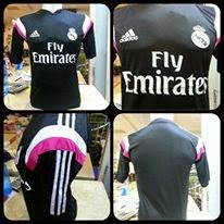 gambar asli photo Jersey Prematch Real madrid warna hitam terbaru musim 2014/2015