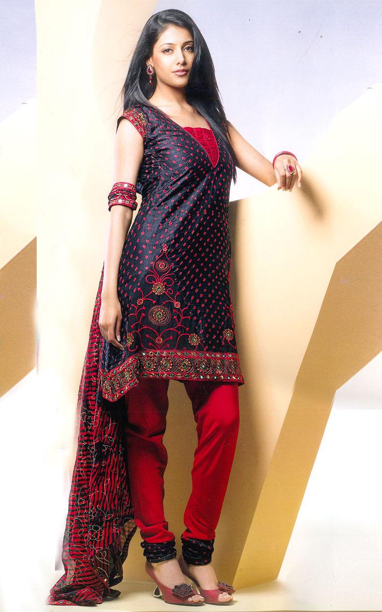 Fashion world latest fashion modern churidaar shalwaar for New design style