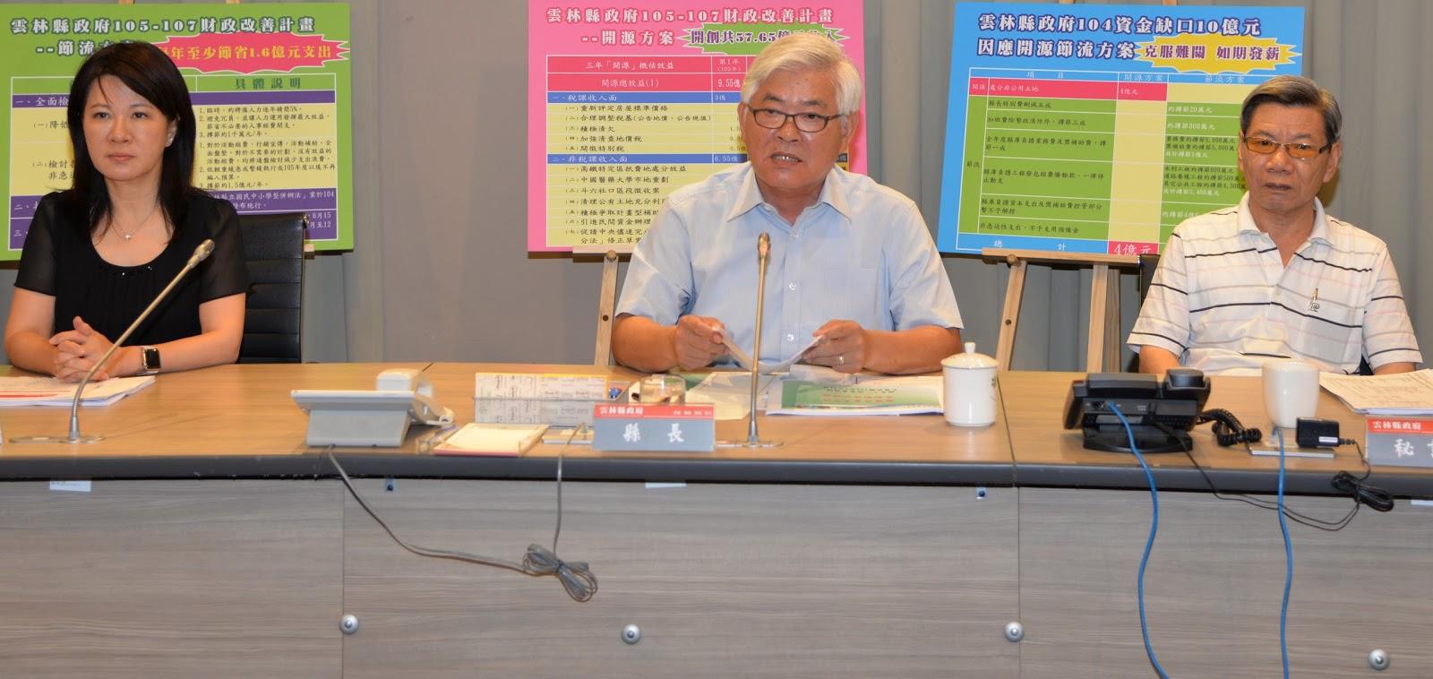 雲林縣府提出三年財改方案 節流也開源