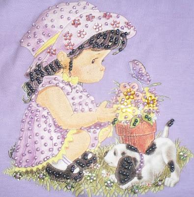 Pedraria roupa infantil