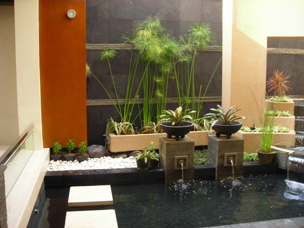 gambar taman minimalis dalam rumah, model taman rumah minimalis dalam rumah