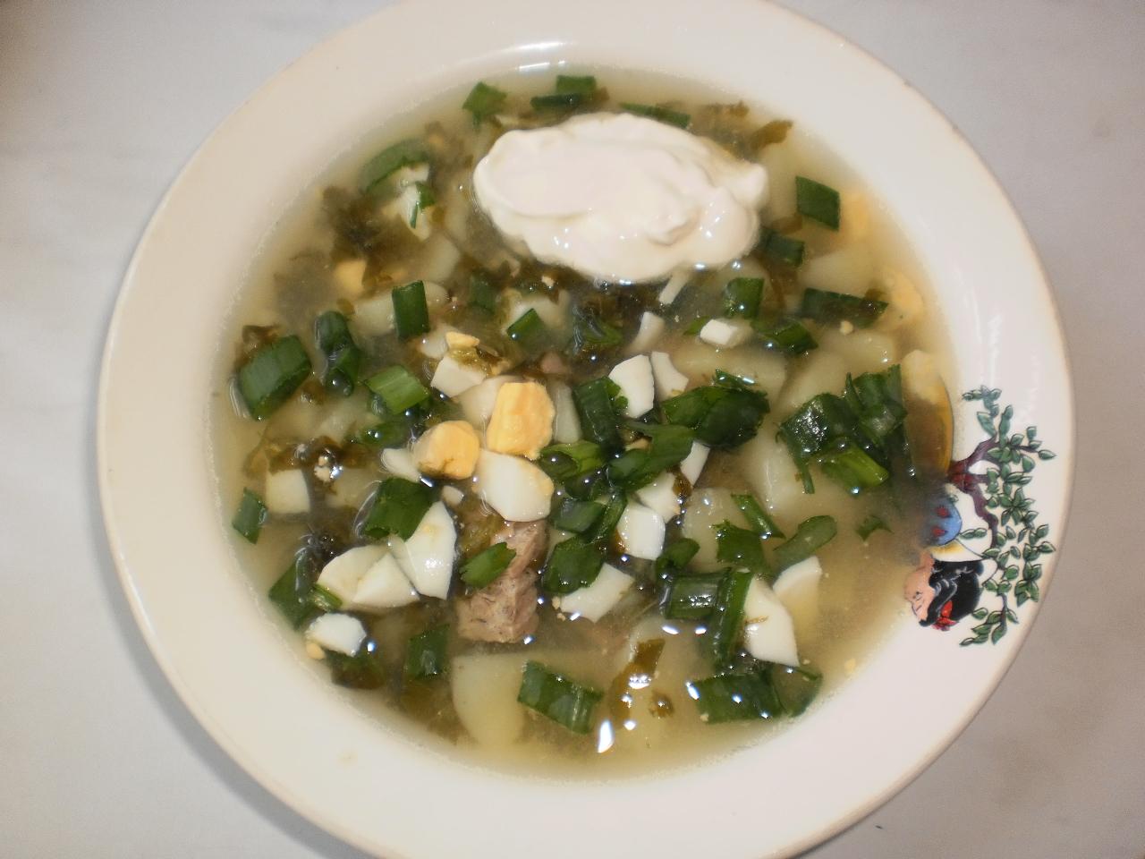 Щавелевый суп с яйцом классический рецепт с фото пошагово 65