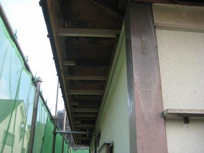 東京都 府中市 屋根工事 雨漏り修理 軒天解体 新規垂木設置