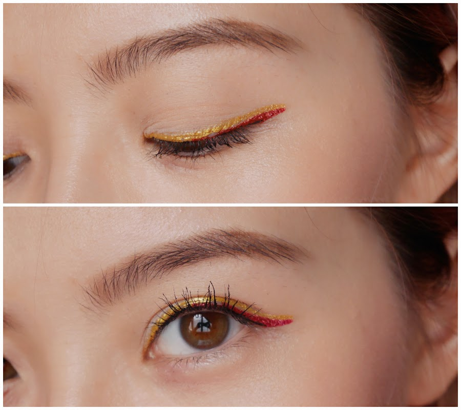 shu uemura metal:ink red and gold tutorial