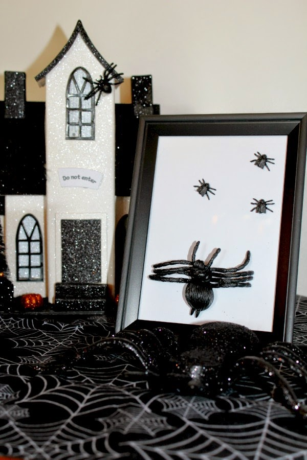 easy spider halloween decoration