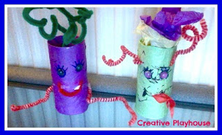 photo of: Monsters from Upcycled Materials from Creative Playouse (via Monster RoundUP from RainbowsWithinReach)