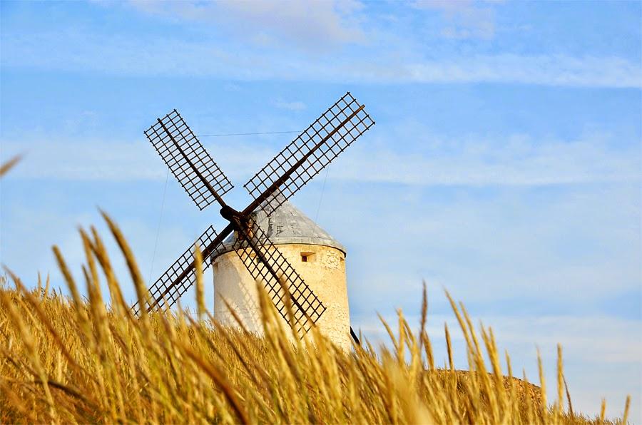 Enfoques en el camino molinos de viento de consuegra - Molino de trigo ...