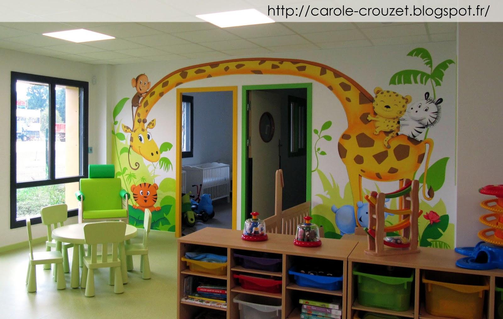 Decoration Automne Creche : Carole crouzet dessinatrice décors sur murs pour micro