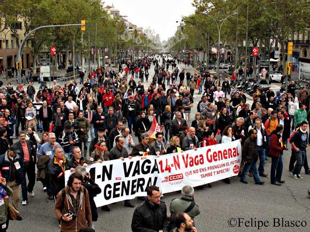 Huelga general 14N Barcelona