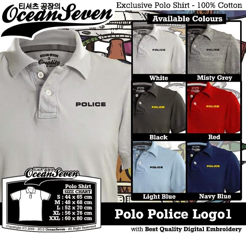 Kaos Polo Police Logo1