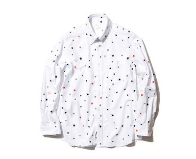 experiment cotton oxford ls star pattern b d long shirt 40 usd size m ...