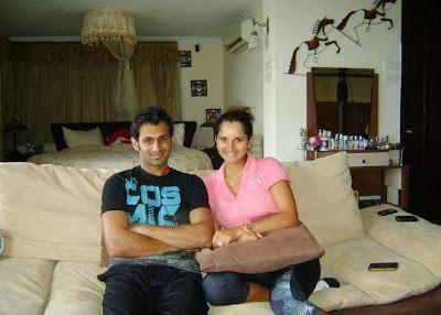Sohaib Malik And Sania Mirza At Home