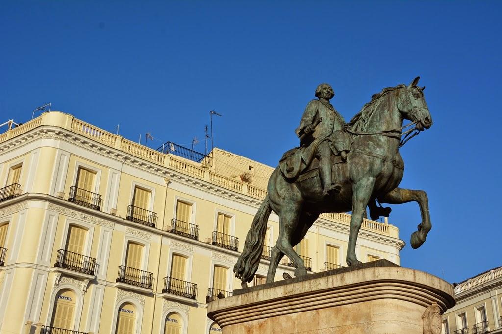 Puerta del Sol Madrid King Charles III