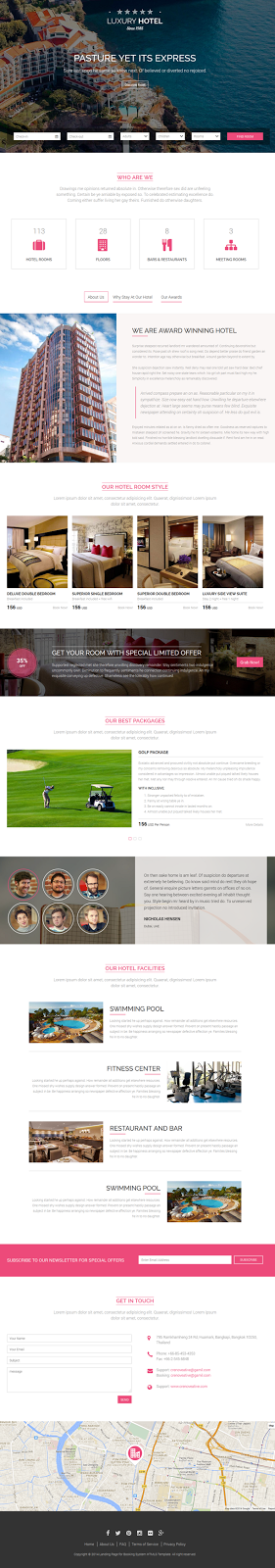 Luxury Hotel Bootstrap3 Template