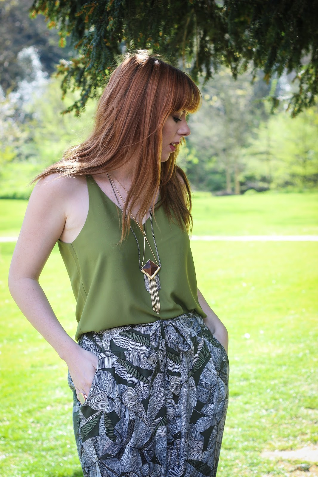 Topshop Green Cami Top - The Goodowl
