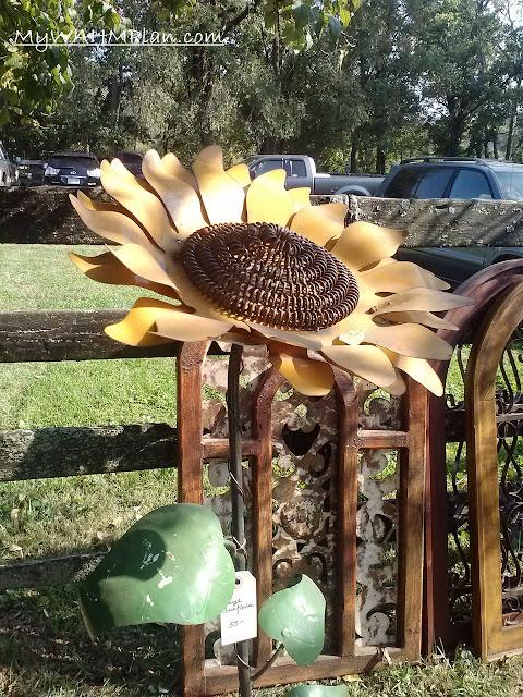 Metal Sunflower #garden #art #fall #September