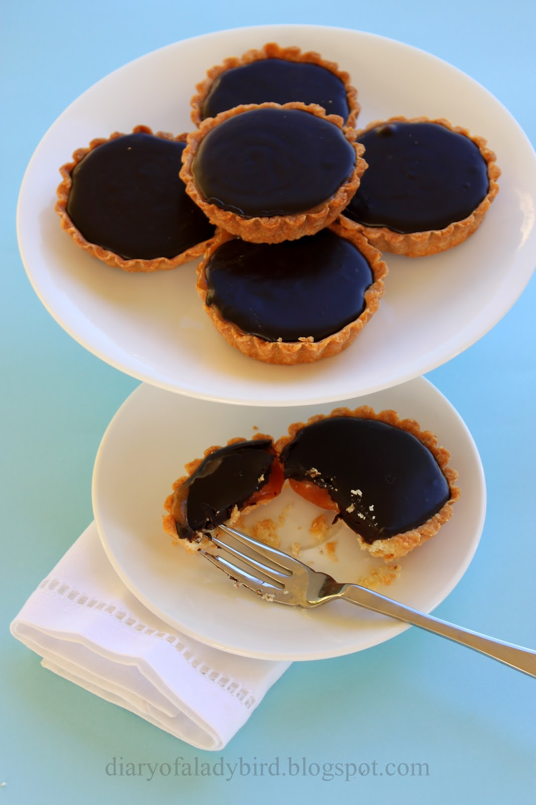 Diary of a Ladybird: Salted caramel, peanut and chocolate tarts