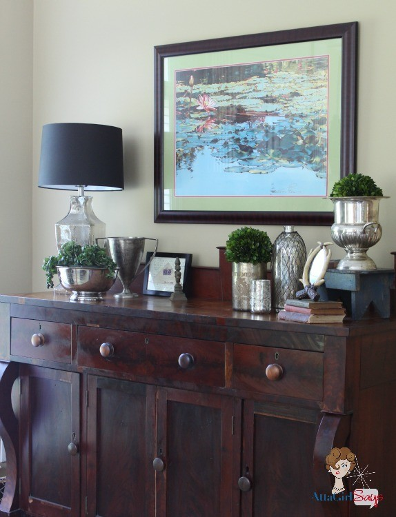Atta Girl Says Antique Buffet- How I Found My Style Sundays- From My Front Porch To Yours