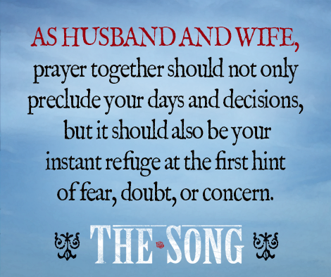 Prayer with your husband should always be the first resort to problems. #marriage #thesongmovie #couplesdevotional