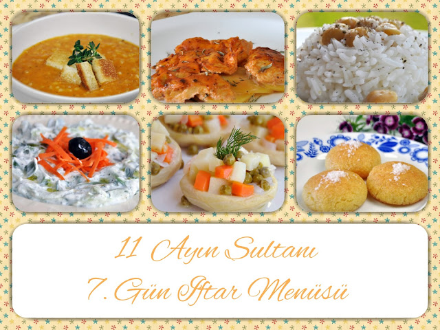 Ramazan iftar menüsü