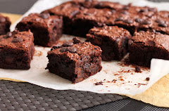 Fudgy GF No-Butter Brownies