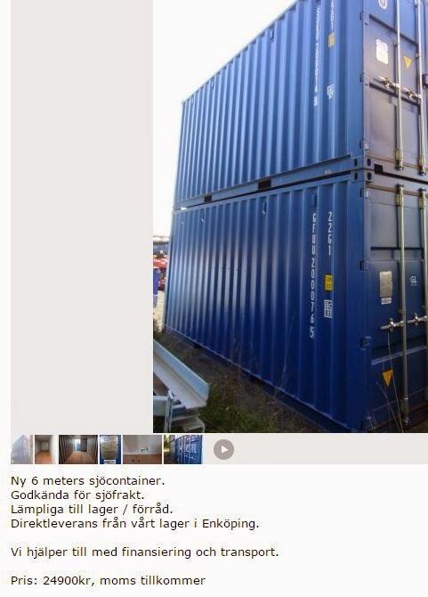 Containers kan ställas på varandra och således även byggas på höjden.