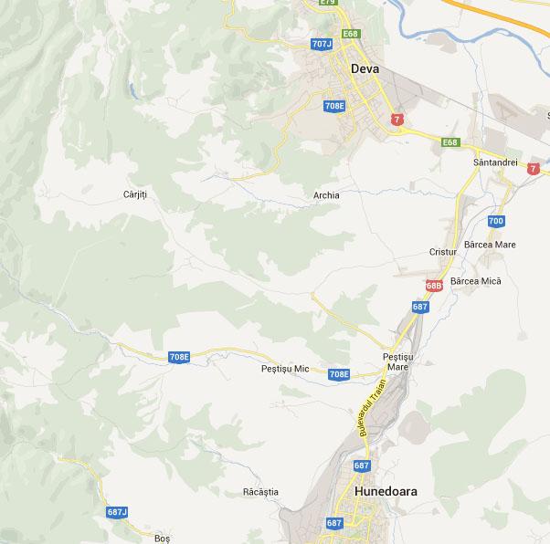 Zona Deva - Cristur - Pestisu Mare si Pestisu Mic - Hunedoara