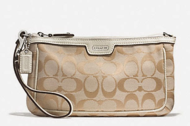 COACH Campbell Signature Large Wristlet 51111