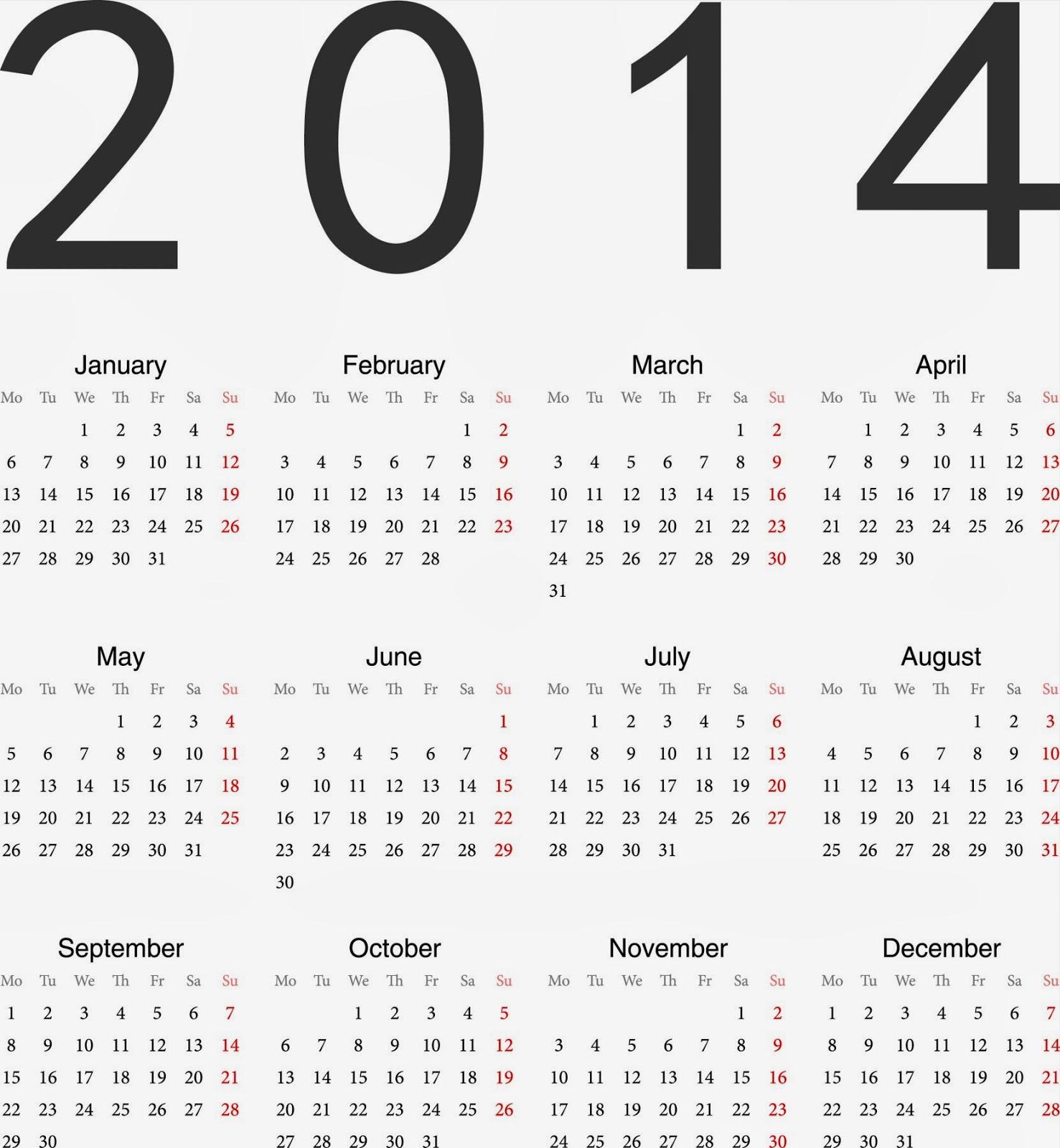 2014 Calendar Wallpapers - HD Wallpapers Blog