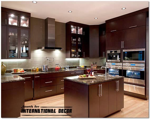 American style in the interior design and houses for American style kitchen