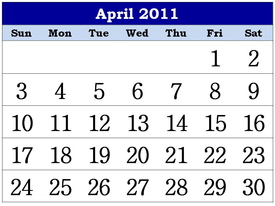 april 2011 calendar printable with. Hindu calendar April 2011 or