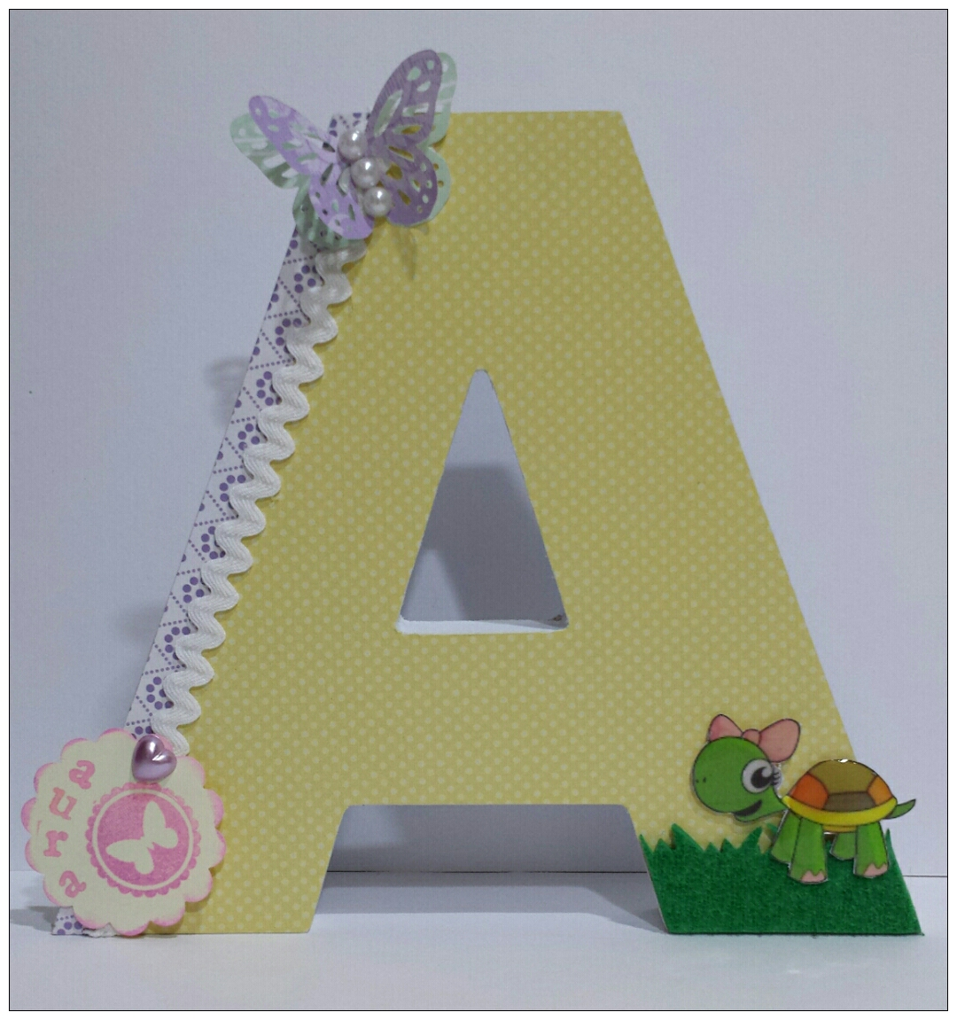 Letras decoradas - Letras de corcho decoradas ...