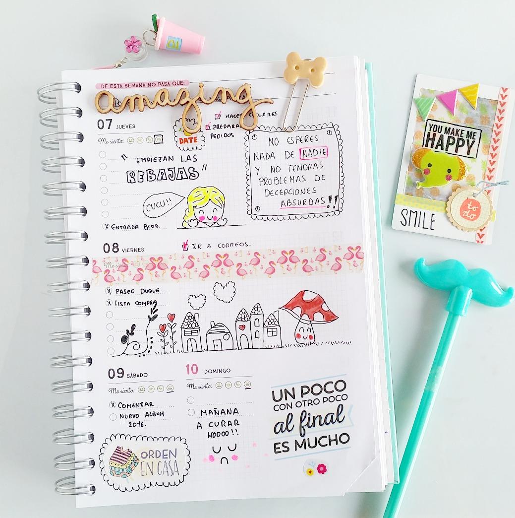 Kira creaciones como sacarle partido a tu agenda - Como decorar una agenda ...