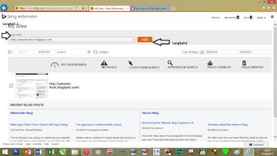 add site bing webmaster tools terbaru