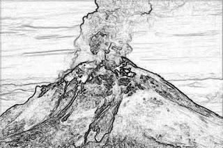 Dibujos de Volcanes