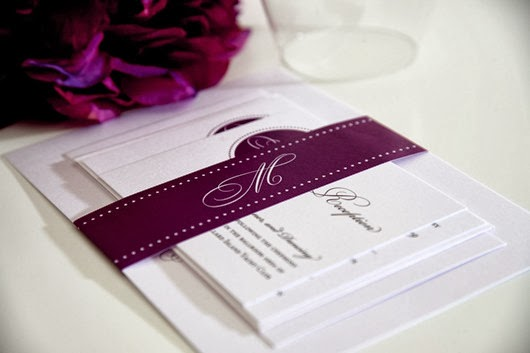 purple wedding invitations save the date cards
