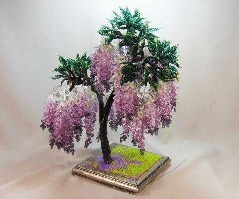 Цветы из бисера своими руками схемы плетения