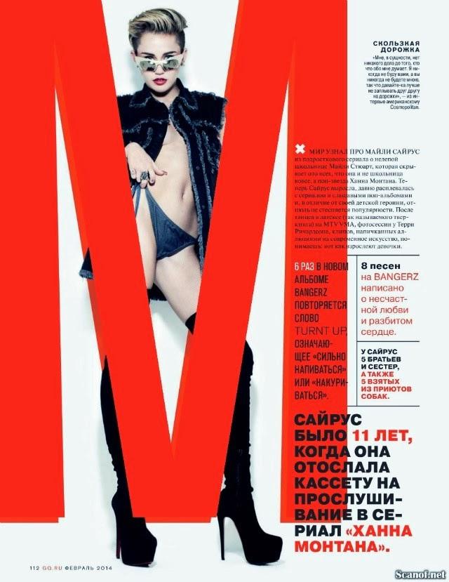 Miley Cyrus GQ Rusa Febrero 2014